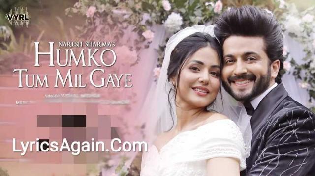 Humko Tum Mil Gaye Lyrics -  Vishal Mishra & Naresh Sharma