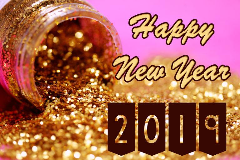 Hình ảnh hũ vàng chúc mừng năm mới 2019 - happy new year kỷ hợi