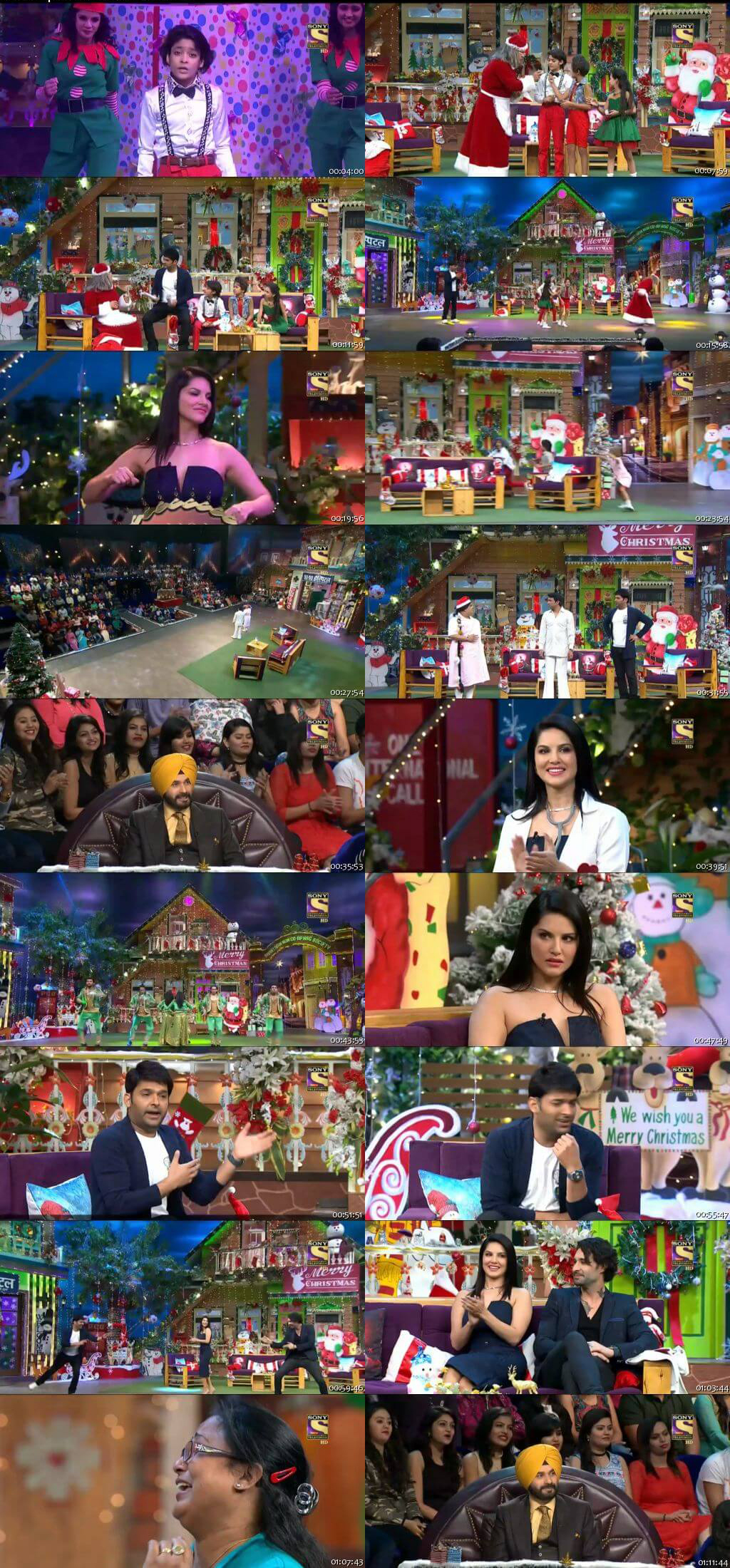 Screen Shot Of The Kapil Sharma Show 25th December 2016 Episode 69 300MB Watch Online