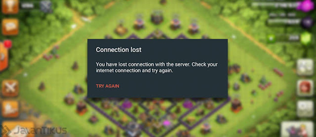 solusi connection lost saat main coc