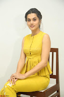 Taapsee Pannu looks mesmerizing in Yellow for her Telugu Movie Anando hma motion poster launch ~  Exclusive 026.JPG