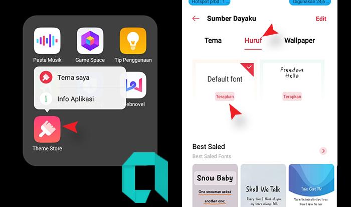 Cara Mengembalikan Font Default OPPO Kesemula Dengan Mudah