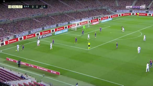 ملخص مباراة برشلونة وايبار (1-1) اليوم في الدوري الاسباني