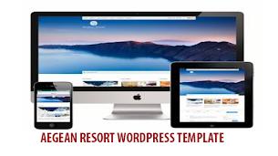 Aegean Resort Premium Responsive Wordpress Template  - Responsive Blogger Template
