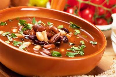 Суп с красной фасолью картинка-рецепт