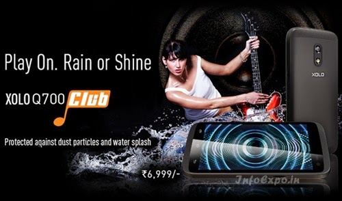 XoloQ700 Club:4.5 inch,1.3 GHz Quad Core Android Phone Specs, Price