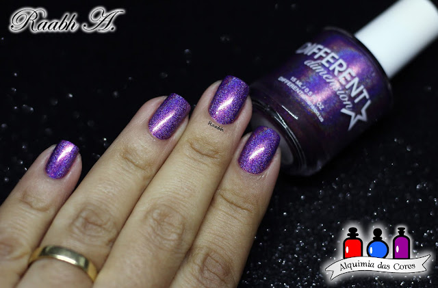 KBShimmer Rollin' With the Chromies, Esmalte Holográfico, Esmalte Multichrome, Different Dimension Numinous, Different Dimension Wanderlust Collection, Roxo, Raabh A. 2018