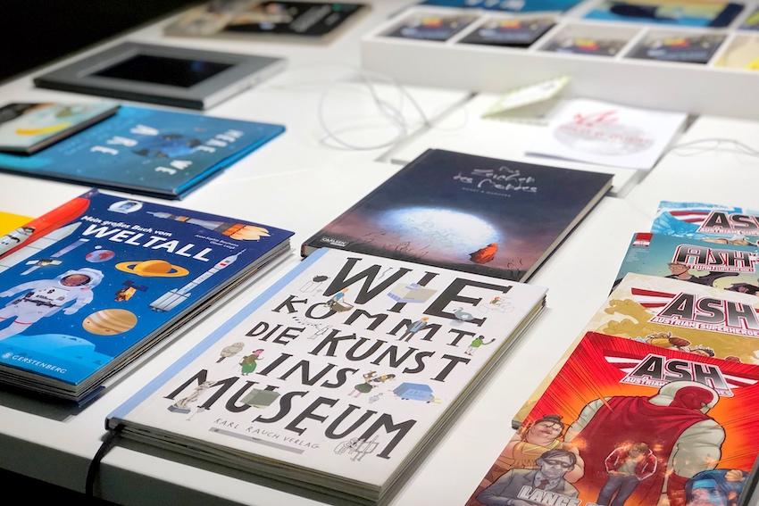 Kinderbücher im Ausstellungsraum, Krems
