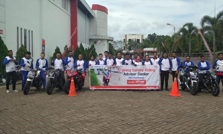Pelatihan Safety Riding Advisor Dealer Honda dari Astra Motor Pontianak
