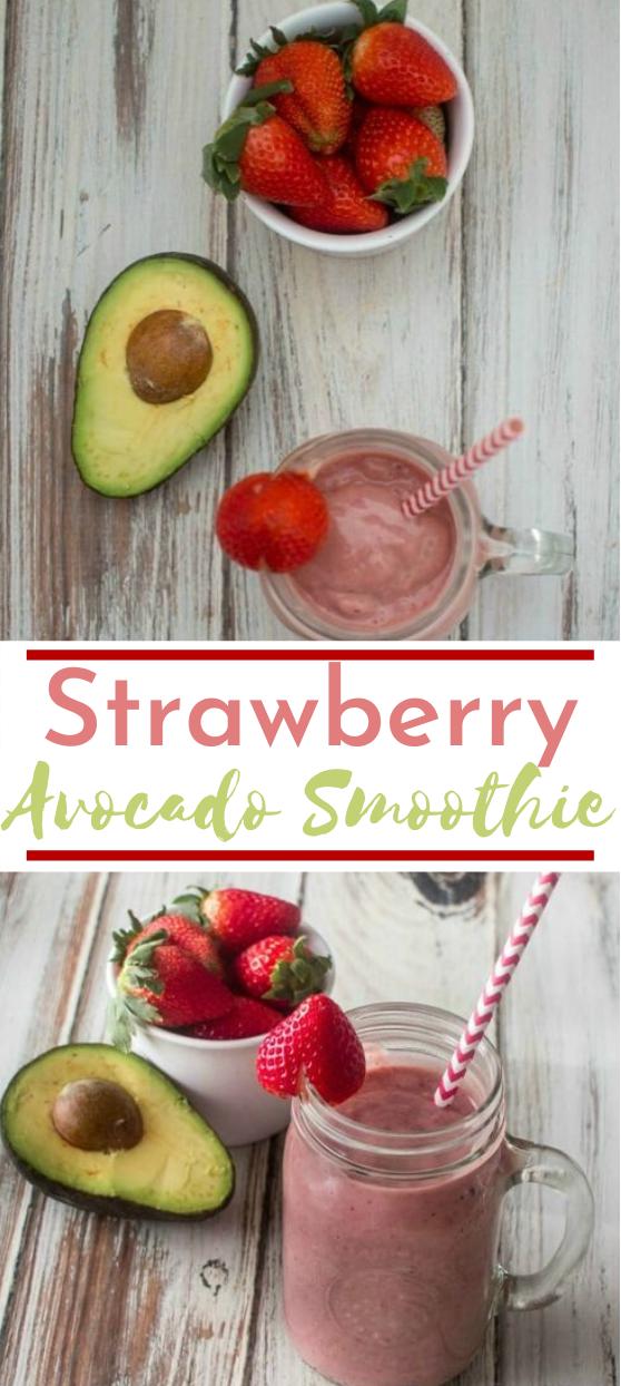 Strawberry Avocado Smoothie #drinks #healthy #smoothie #breakfast #vegan