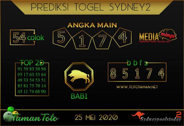 Prediksi Togel SYDNEY 2 TAMAN TOTO 25 MEI 2020