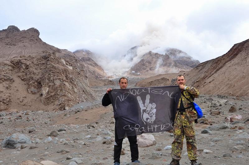 любители авантюр на вулкане шивелуч камчатка
