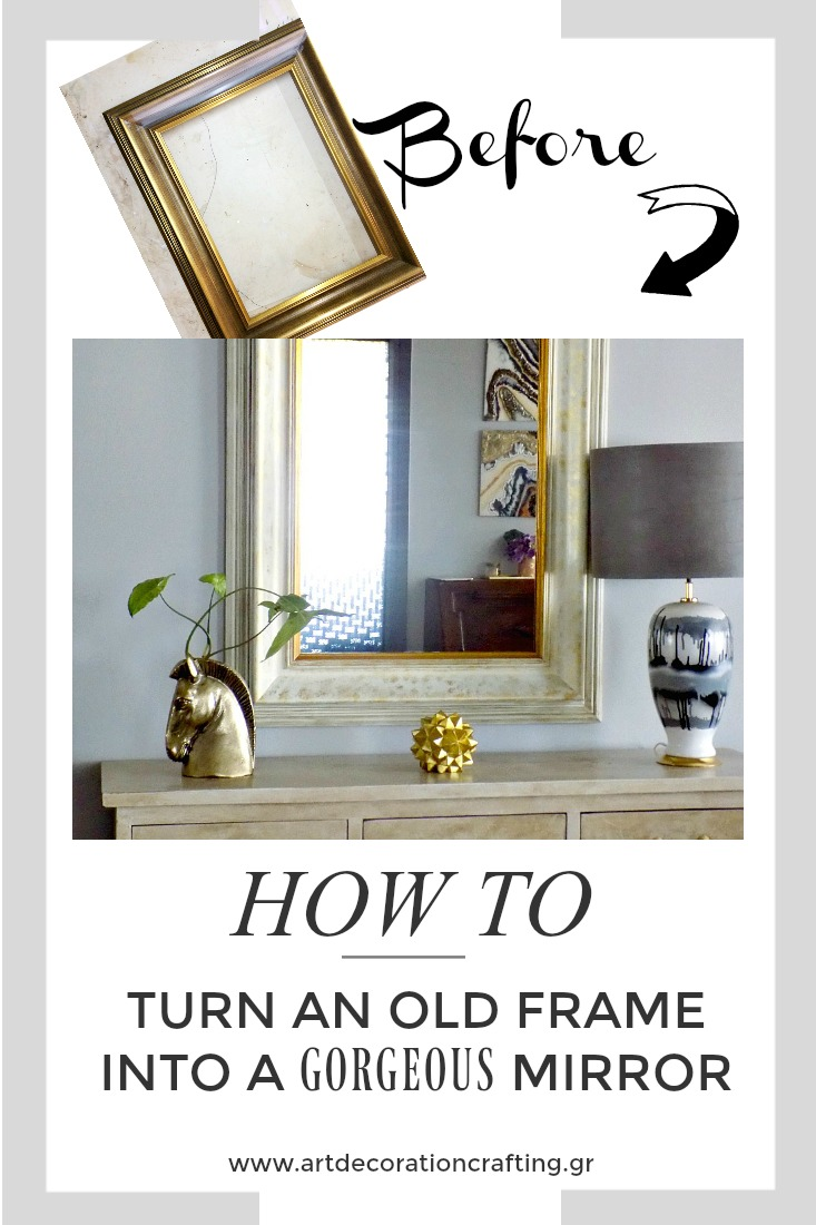 How to turn an old frame into a gorgeous mirror