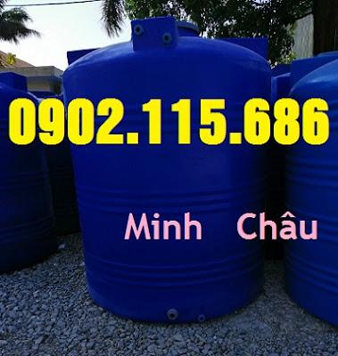 2000L - Bồn nhựa 2000L đựng hóa chất, bồn đựng hóa chất 2000L, bồn nhựa xanh 2000L đứng,