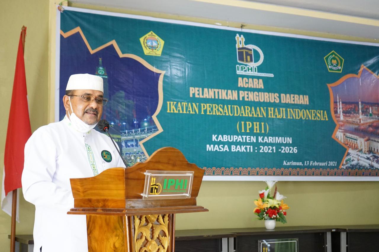 Aunur Rafiq Menghadiri Pelantikan Pengurus Daerah IPHI Kabupaten Karimun Masa Bakti 2021 - 2026