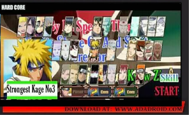 Download Game terbaru Naruto Senki berjudul 15 Strongest Kage VS Otsutsuki Mod Apk
