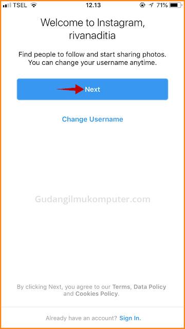 Cara Buat Akun Instagram dengan Nomor Telepon