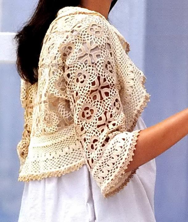 Ergahandmade Crochet Bolero Diagrams