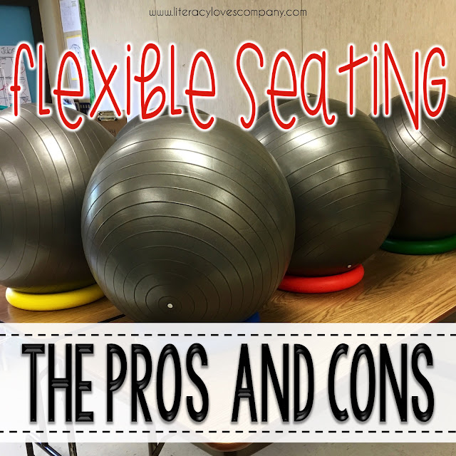 Are you heading back to school and considering flexible seating for your classroom?  Before you jump in, check out some of the pros and cons from an elementary classroom experience.