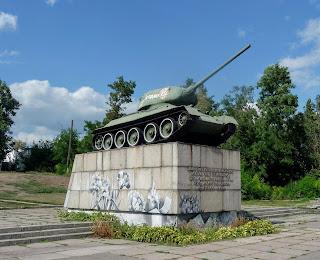 Золотоноша. Черкасская обл. Памятник-танк