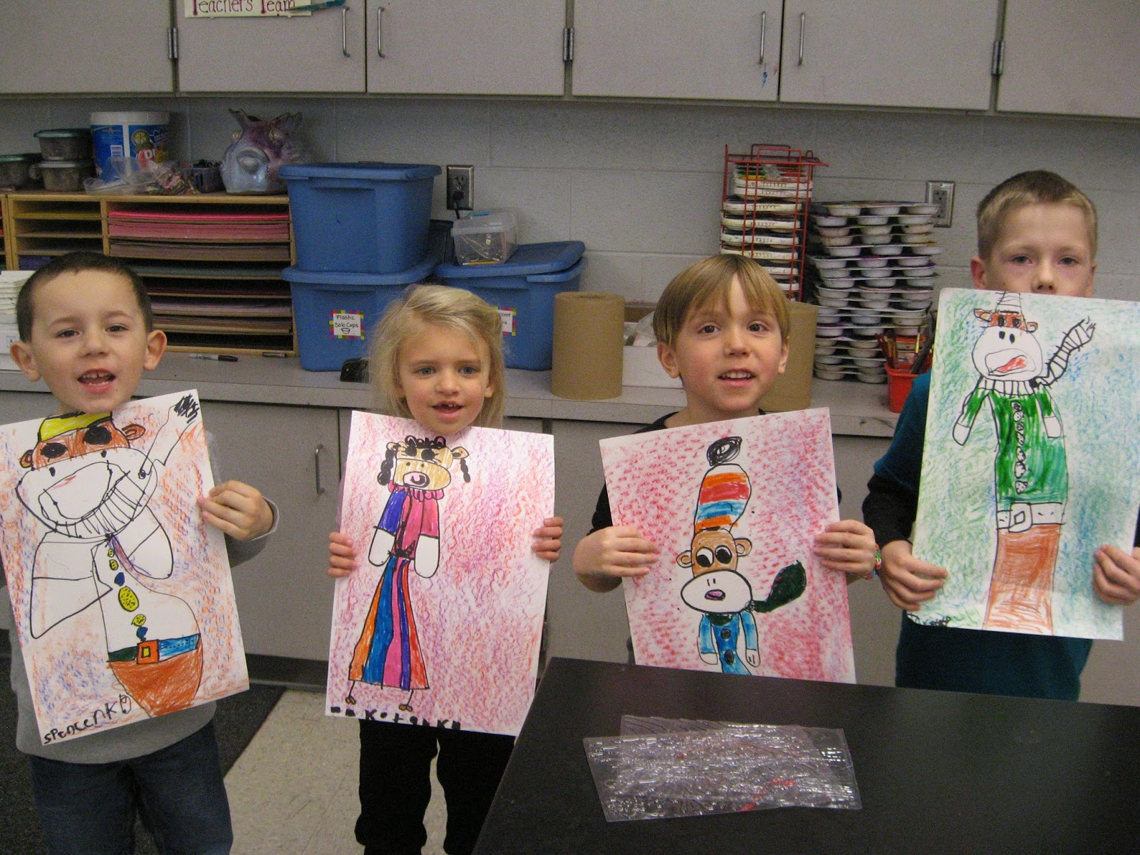 Jamestown Elementary Art Blog Kindergarten Shape And Texture Sock Monkeys