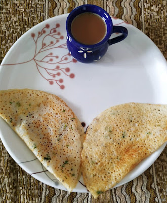 Weekend Breakfast Trio Dosa – Rawa Maida Urad Dal Dosa with Ginger Tea, dosa recipes thehoggerz.com