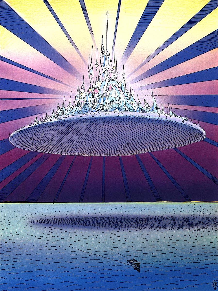 Moebius floating island