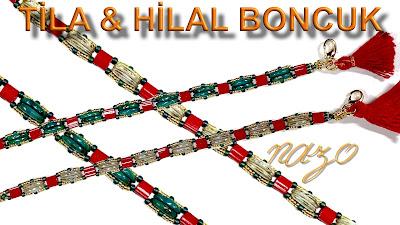 Tila crescent beads
