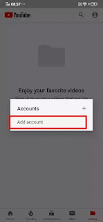 Add Google Account in YouTube Red