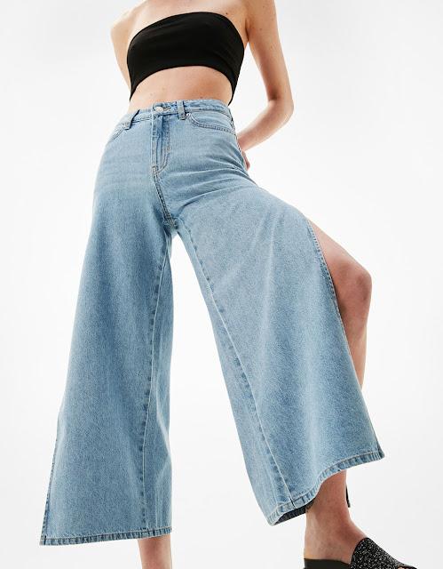 Jeans aberturas laterales Bershka