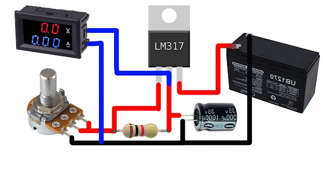 Variable Voltage Power Supply Using The LM317T