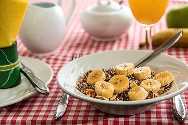 Banana e cereal