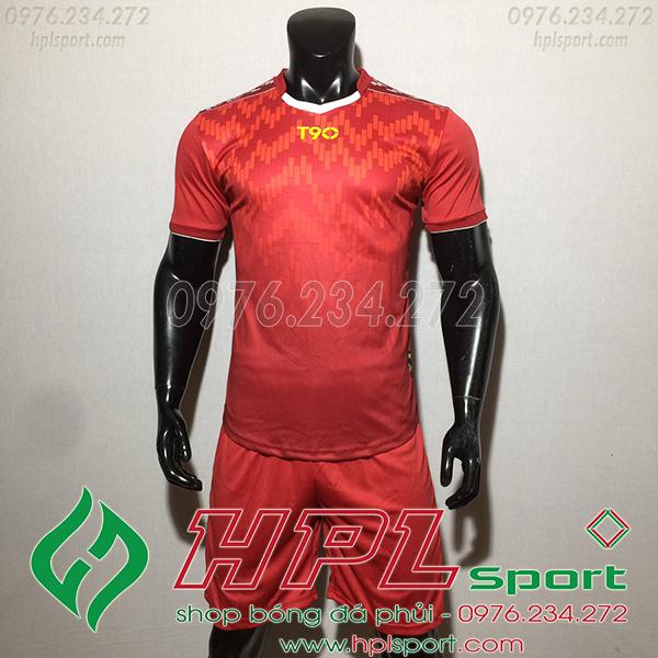 Áo ko logo T90 Cli màu đỏ