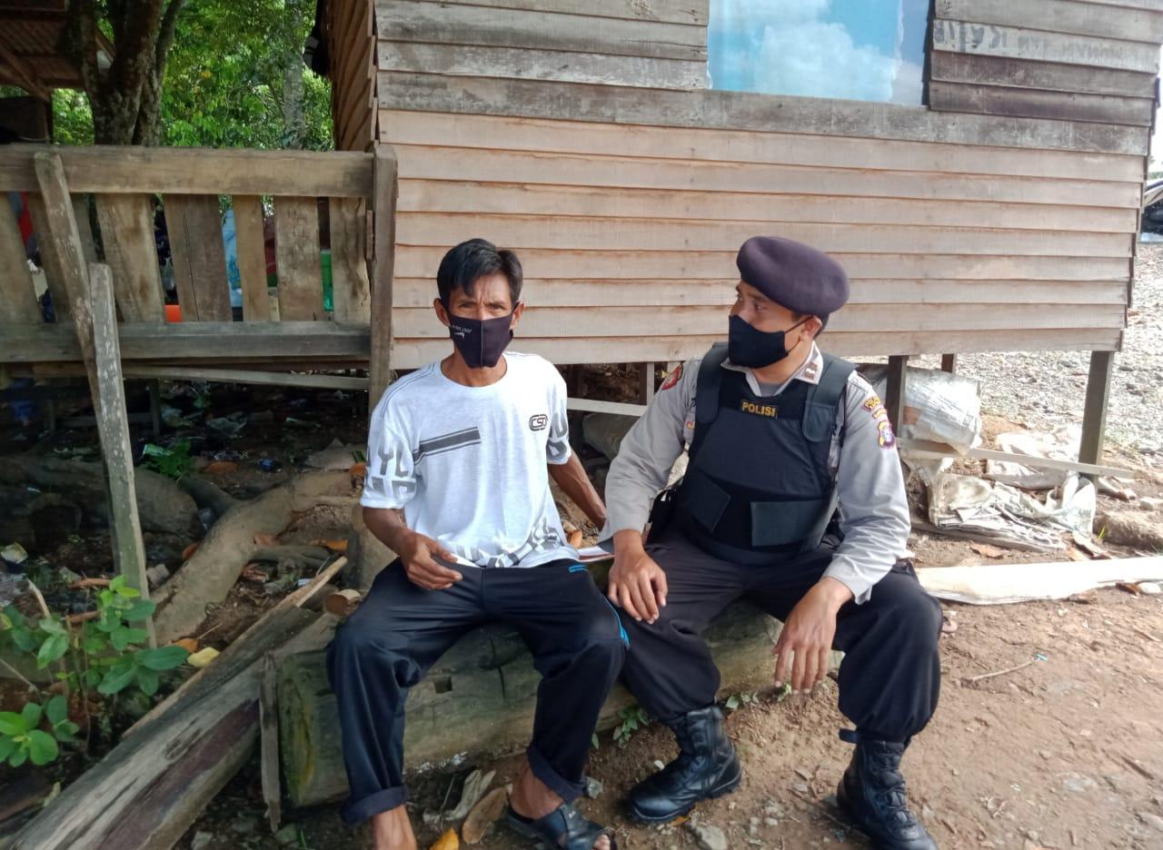 Piket Polsek Kapuas Timur Laksanakan Patroli Dialogis Cegah Covid-19