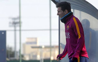 Lionel Messi trains on Barcelona day off due to injury scare