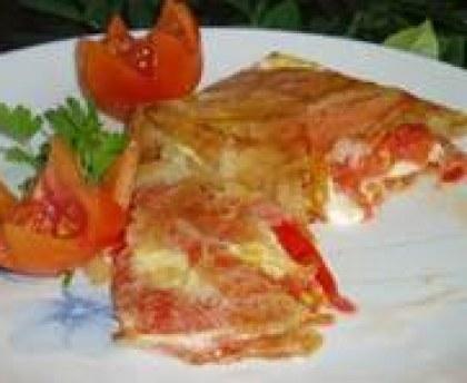 Easy crispy mozzarella tomato and olives