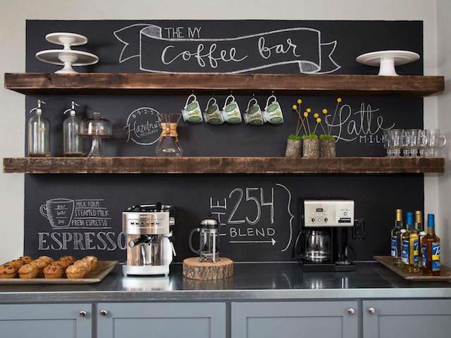 10 trucos para decorar tu hogar en invierno por menos de 100€, cocina con pintura de pizarra