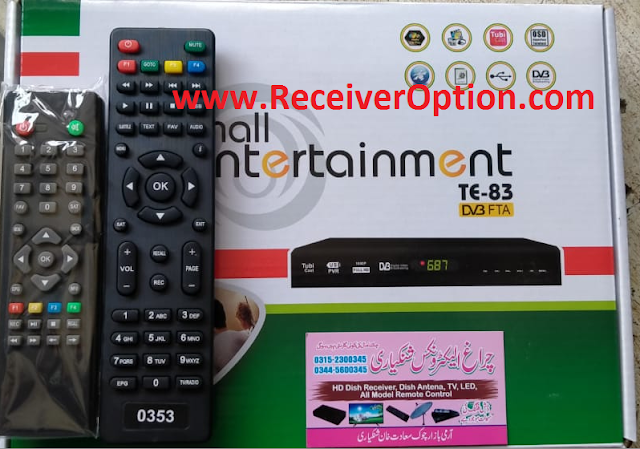 TMALL ENTERTAINMENT TE-83 HD RECEIVER REMOTE CHANGING TO F1 F2 NEW SOFTWARE