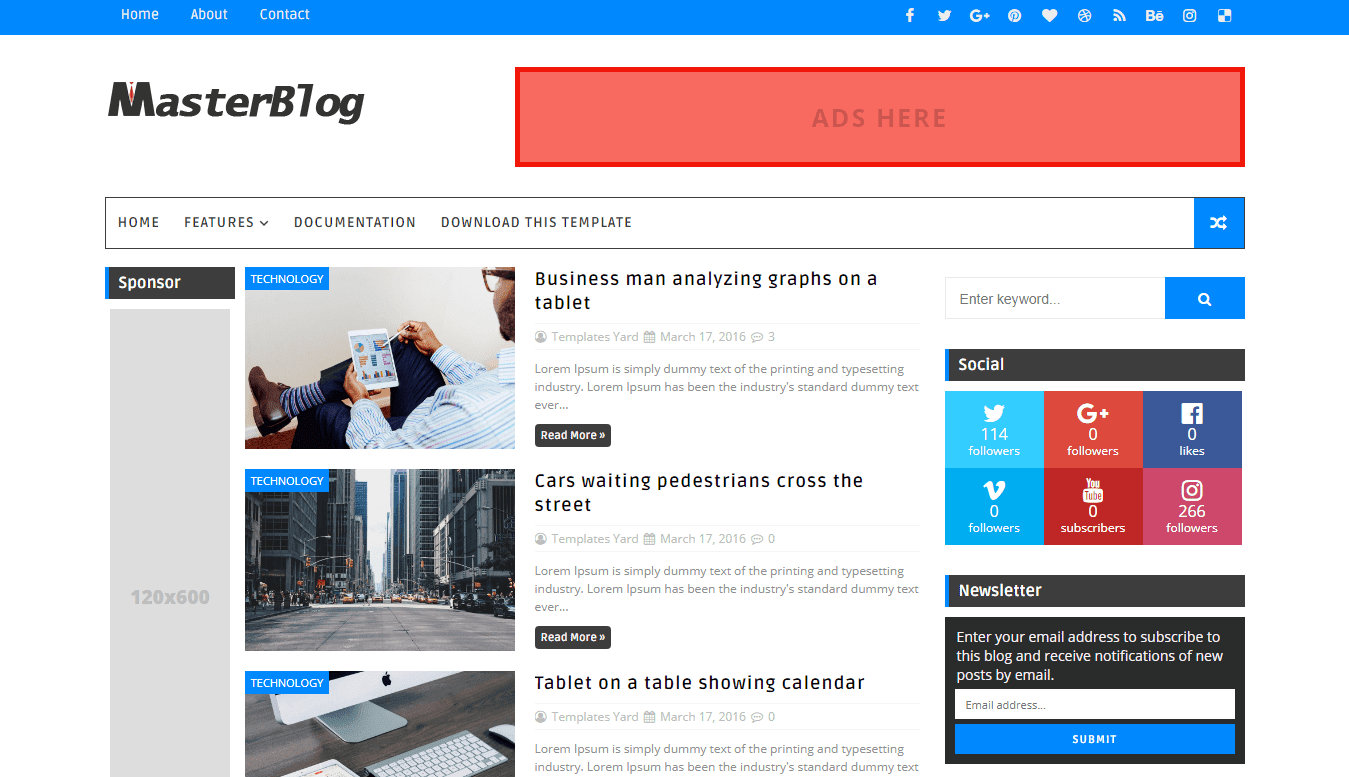 How to setup master blog blogger template templatesyard sora master blog blogger template wajeb Images