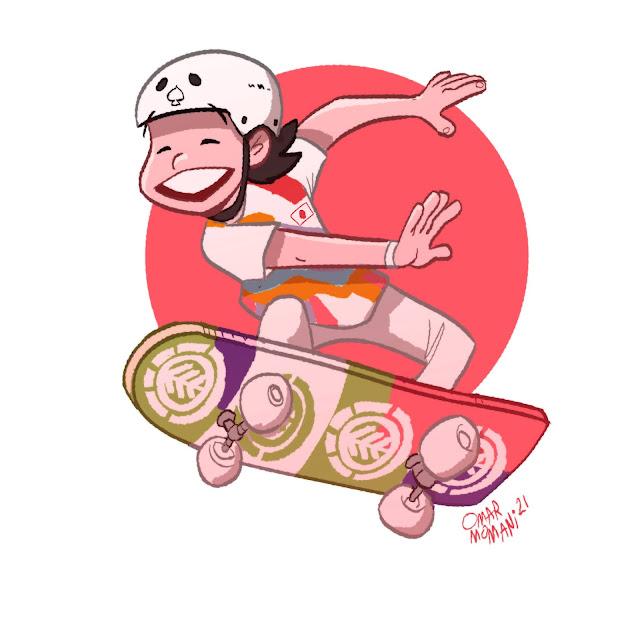 Momiji Nishiya cartoon