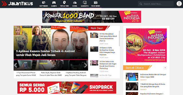 Review JalanTikus.com, Situs Download Software dan Game dengan Desain Web Super Keren