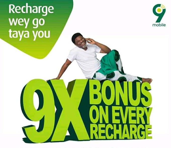 9Mobile Launches 9X Bonus On Every Recharge - See How To Activate It