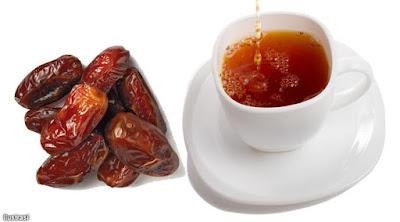 Buka Puasa dengan Kurma dan teh