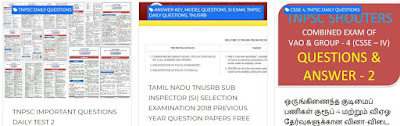 TNPSC LAST / PREVIOUS YEARS QUESTION PAPERS WITH ANSWERS