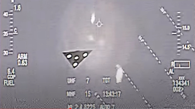 Black Triangle UFO video was recorded by whistle-blower and sneaked out of the US Air Force.