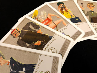 A selection of thief cards from Caper.