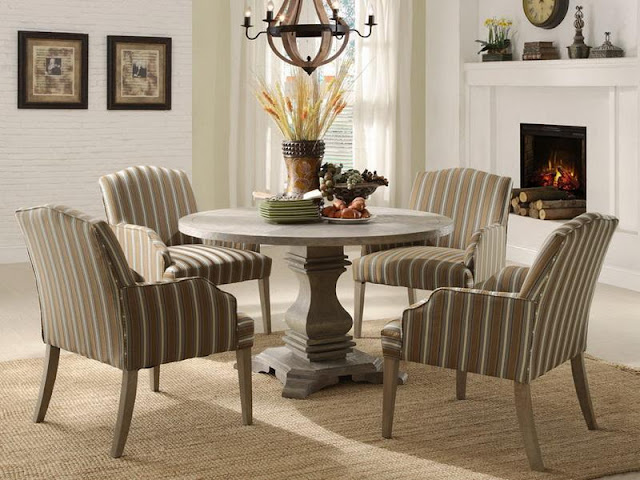 Modern Room with Round Dining Tables Modern Room with Round Dining Tables 11