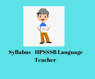 Syllabus - HPSSSB Language Teacher