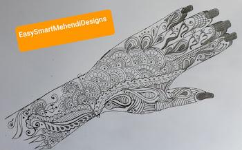 Beautiful Mehendi Arabic design for Navratri- Day 1 - DN # 2892020