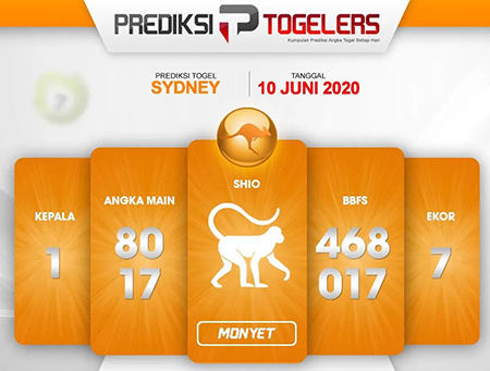 Kode Syair Sydney Rabu 10 Juni 2020 - Prediksi Togelers